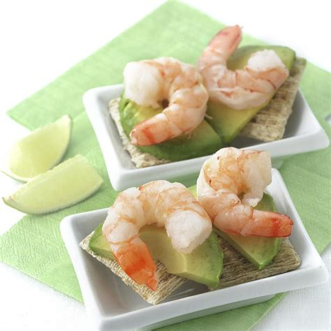 canapes with prawns shrimp avocado canapes recipe eatingwell