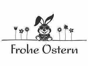 Osterhase Schwarz Weiß : osterhase wandtattoo hase frohe ostern wandtattoo osterdeko von ~ A.2002-acura-tl-radio.info Haus und Dekorationen
