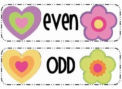 Odd Clipart Even Number Numbers Themes Teacherspayteachers