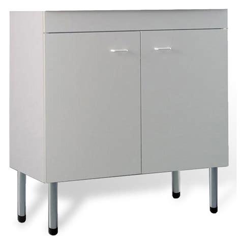 lavelli in acciaio inox mobile cucina sottolavello bianco 80x50 cm a 2 ante per
