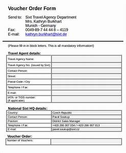 7 travel order forms free word pdf format download With travel agency forms templates