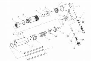 Sip 06781 Pistol Grip Needle Scaler Diagram