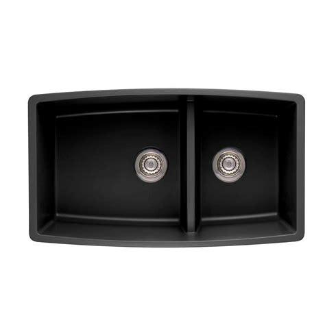 composite kitchen sink blanco performa undermount granite composite 33 in 0 2414
