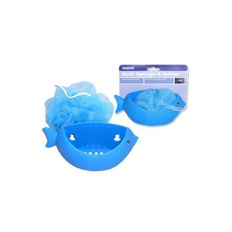 shower sponge holder 72 units of bath sponge holder fish shapblue clr at