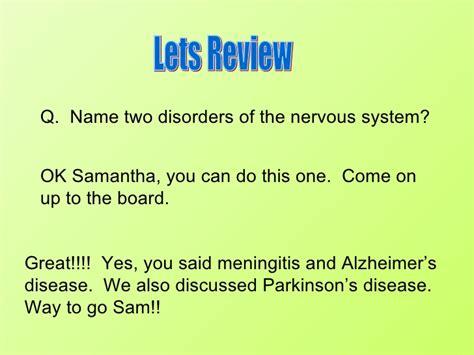 diseases   endocrine  nervous system