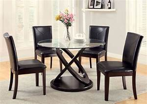 48 Round Dining Table Ideal Equipped With 4 Matching Chairs