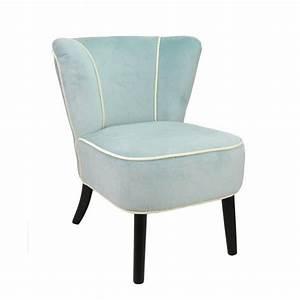 Fauteuil Velours Bleu : fauteuil crapaud bleu clair aspect velours mobilier ~ Teatrodelosmanantiales.com Idées de Décoration