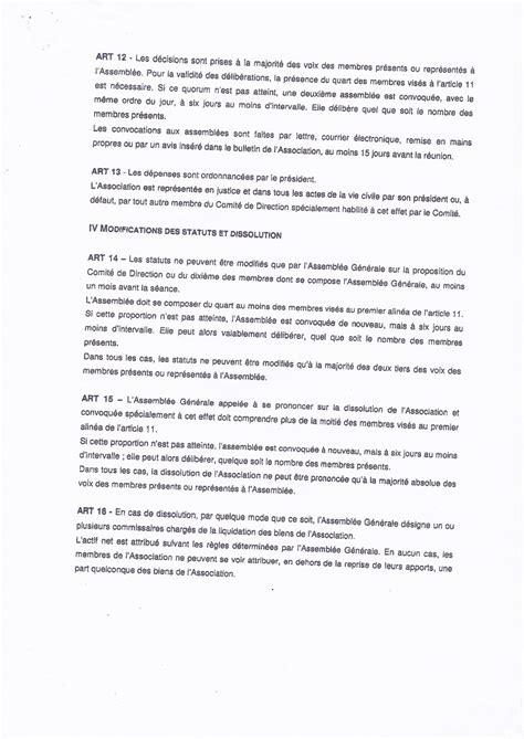 reglement interieur association sportive 28 images concordia association loi 1901 affili 233