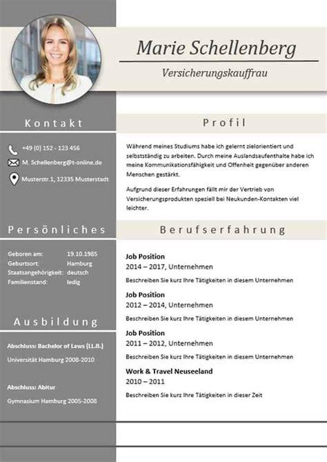 Vorlage Moderner Lebenslauf by Moderne Lebensl 228 Ufe Lebenslauf Lebenslauf Muster