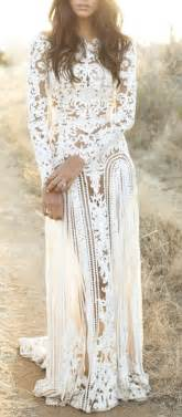 mariage hippie chic hippie style lace wedding dress boho fashion bohemian evening gown puck wedding