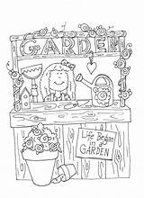 Twig Garden Coloring Booth Pages Freedeariedollsdigistamps Digi Stamps Books sketch template