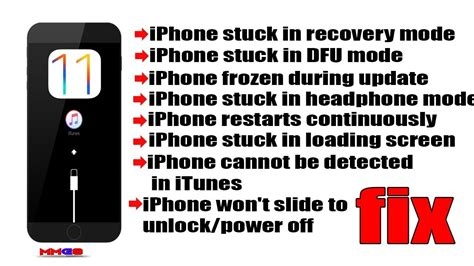 to put an iphone in recovery mode how to fix iphone stuck in recovery mode on ios 11 iphone