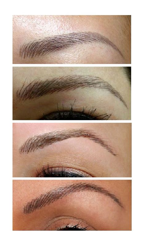 feather touch eyebrow tattoos perm makeup pinterest