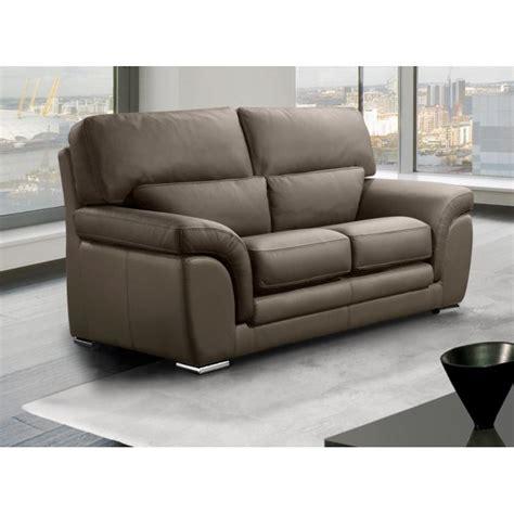 canapé cuir taupe canapé fixe confortable design au meilleur prix cloe