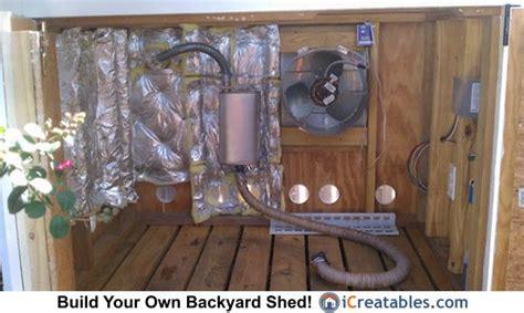 generator shed enclosure exhaust fan setup generator