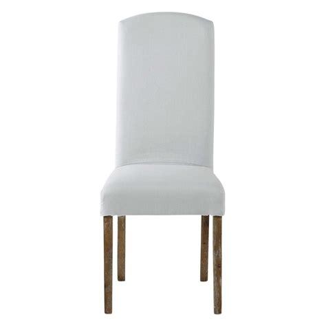 maison du monde housse de chaise housse de chaise en lavé bleu glacier maisons