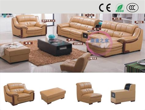 Online Cheap Leather Sofa Factory Direct Small Apartment