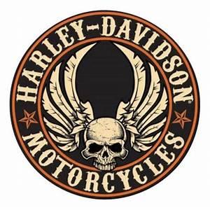 Harley-Davidson® Embossed Flying Skull Button Round Tin