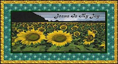 Joy Jesus Treasure Christian Box Sunflower