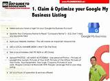 Pictures of Claim My Google Business Listing