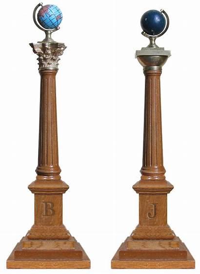 Masonic Columns Clipart Wardens Symbol Pillars Clip