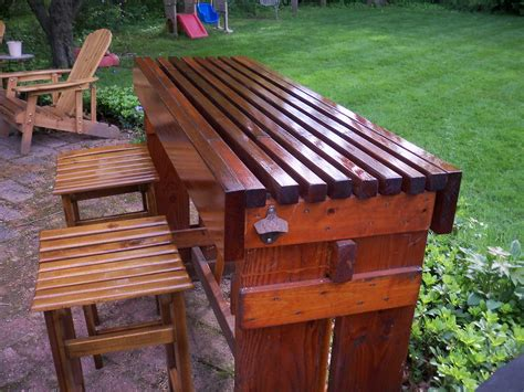 Patio Bar Ideas Diy by Diy Outdoor Table For The Stylish Yet Cost Effective Result