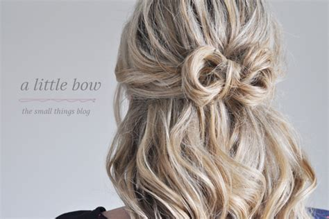 A Little Bow Hair Tutorial