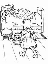 Hood Riding Little Coloring Pages Cartoon Printable Coloringhit Templates Template Kid Real sketch template
