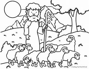 The Good Shepherd (The Lost Sheep)- Coloring Page ...
