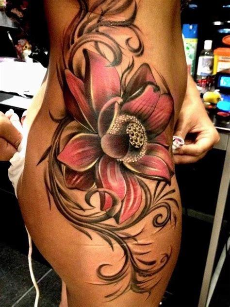 side tattoo tattoos pinterest beautiful awesome  flower tattoo designs