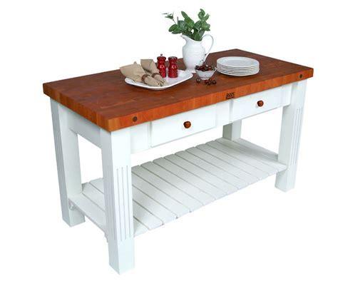 John Boos Grazzi Kitchen Island Table w/ Cherry Top