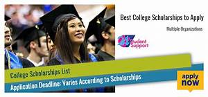 Best College Scholarships to Apply - 2017 2018 ...