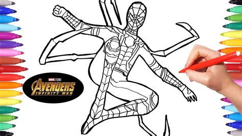 avengers infinity war iron spider avengers coloring