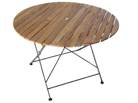 table de jardin table ronde pliante bistrot diam