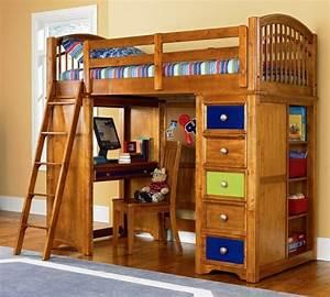 Hochbett Holz Kinder : hochbett mit schreibtisch funktionale betten finden ~ Michelbontemps.com Haus und Dekorationen