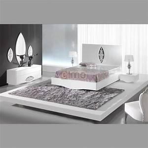 Chambre Complete Adulte : chambre adulte compl te moderne laque blanc et argent artic ~ Carolinahurricanesstore.com Idées de Décoration