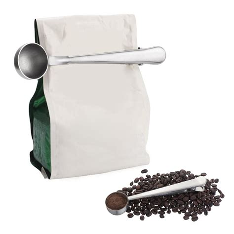 For a proper cup of coffee. Multifunction Kitchen Supplies Coffee Scoop With Clip ...