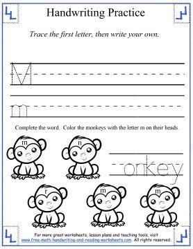 handwriting practice sheetsprinting letters mm rr