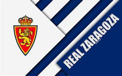 Download wallpapers Real Zaragoza FC, 4k, material design ...