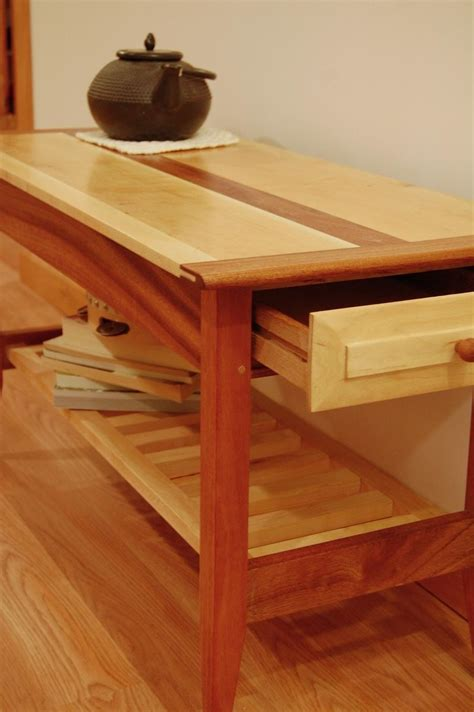 Handmade Two Drawer Mahogany And Maple Coffee Table With. Paint Colors With Wood Trim. Vintage Wall Mount Sink. Basement Remodel. Victorian Bathroom Faucet. Glass Coffee Table. Caesarstone Reviews. Maple Kitchen Cabinets. Retro Kitchen Appliances