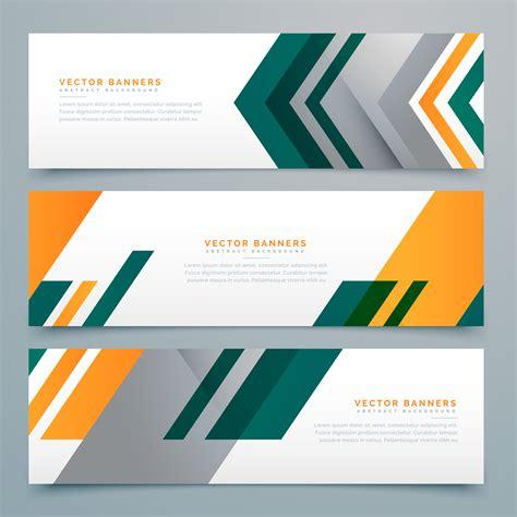 geometric business banner design set   vector art stock graphics images