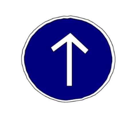 si鑒e auto obligatoire direction tout droit obligatoire a la prochaine intersection de code de laroute
