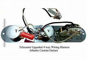 Telecaster Tele 4 Way Wiring Harness Cts Pots  Treble
