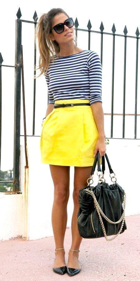 Black And Yellow Striped Skirt | Fashion Skirts
