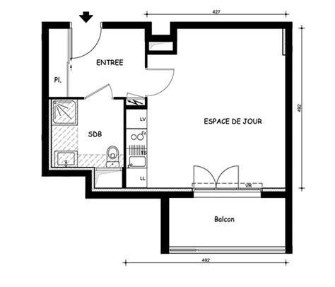 plan d un appartement t1
