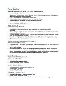 Resumè Template Professional Profile Resume Templates Resume Genius