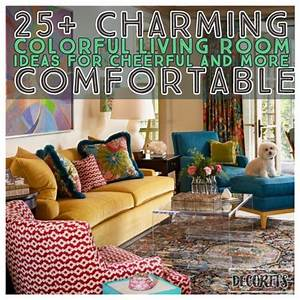25, Charming, Colorful, Living, Room, Ideas, For, Cheerful, And