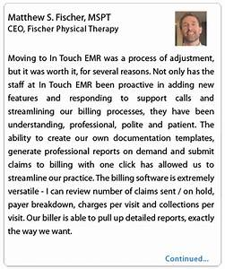 in touch emr vs optimispt physical therapy software With home health physical therapy documentation