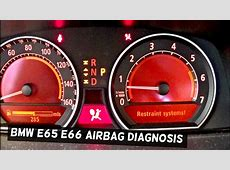 HOW TO TURN AIRBAG LIGHT OFF ON BMW E65 E66 with MAXISYS