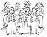 Choir Church Coloring Clipart Pages Christmas Singing Printable Children Childrens Clip Chorus Music Colouring Cliparts Carolers Worship Clipartix Bible Sing sketch template